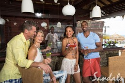 Sandals Grenada beach bar