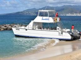 Scuba - boat on a beautiful day