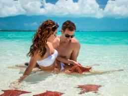 Caribbean couple starfish