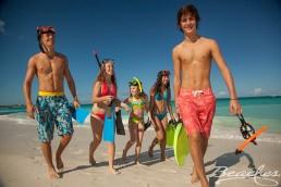 Turks & Caicos family Teens Kids Beach Snorkeling gear